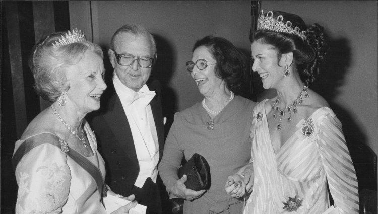 Silvia de Suecia junto a sus padres y la Princesa Lilian