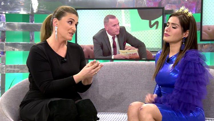 Miriam Saavedra fuer coronada por Belén Esteban | Foto: Telecinco.es