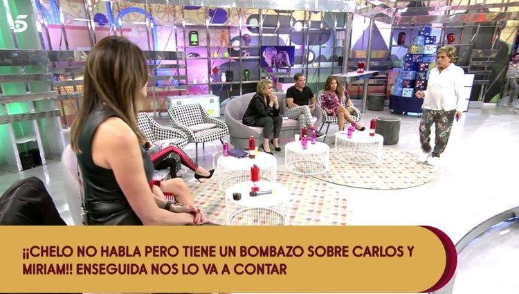 Chelo García Cortés contando la noticia en 'Sálvame'   Foto: telecinco.es