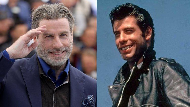 John Travolta en la actualidad y en el papel de Danny Zuko