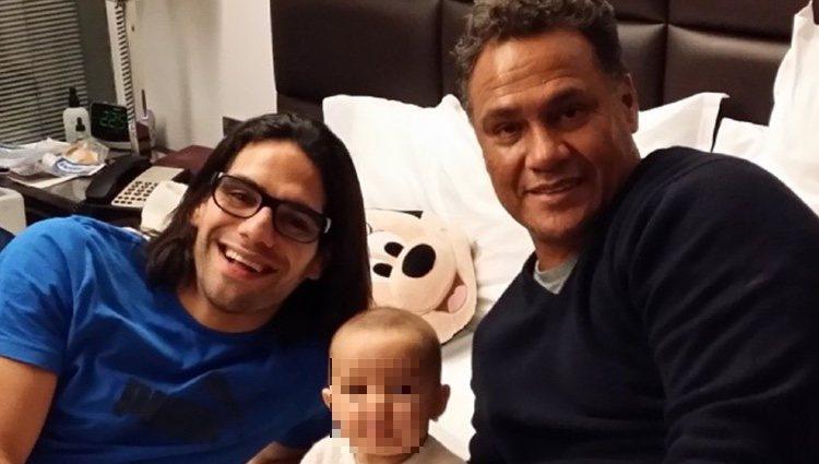 Falcao y su padre| Foto: Instagram
