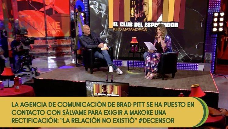 El momento en que Carlota Corredera dio el bombazo| Foto: Telecinco.com
