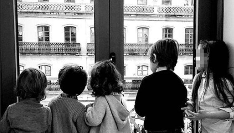 Sara Carbonero en Vigo y sus hijos| Foto: Instagram