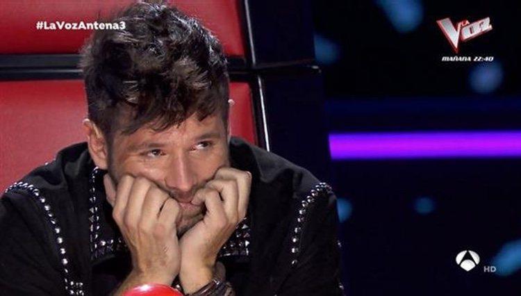 Pablo López se emociona al escuchar a Palomy en 'La Voz' | Foto: Antena 3