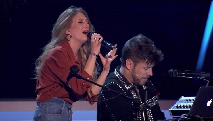Palomy y Pablo López cantan juntos en 'La Voz' | Foto: Antena 3