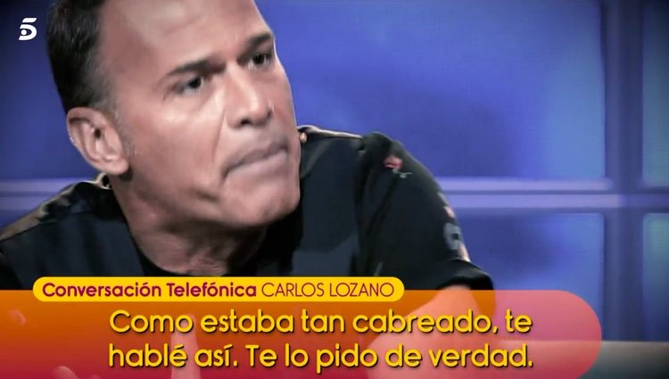Carlos Lozano pide disculpas / Telecinco.es