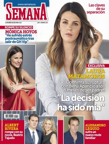 Laura Matamoros en la portada de Semana
