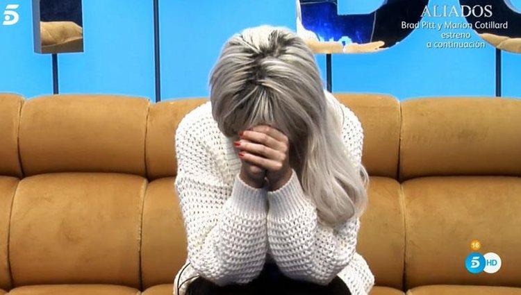 Ylenia Padilla se derrumba en el confesionario | Foto: Telecinco.es