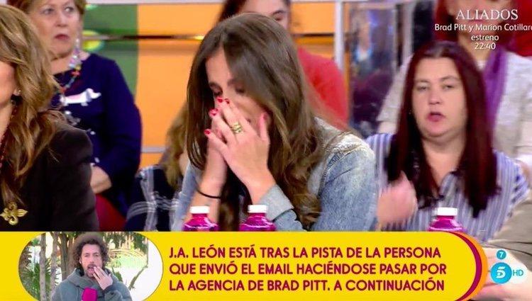 Anabel Pantoja llorando por la situación | Foto: telecinco.es