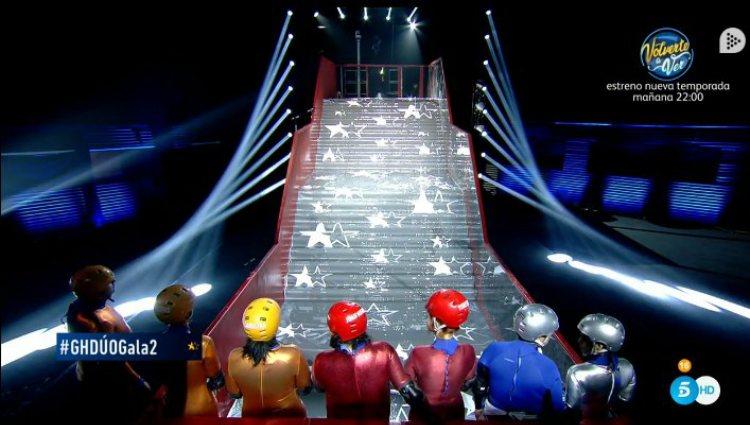 Los concursantes se enfrentan de nuevo a la prueba de la escalera |telecinco.es