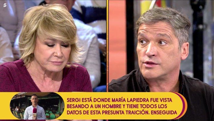 Gustavo González discutiendo con Mila Ximénez en 'Sálvame'