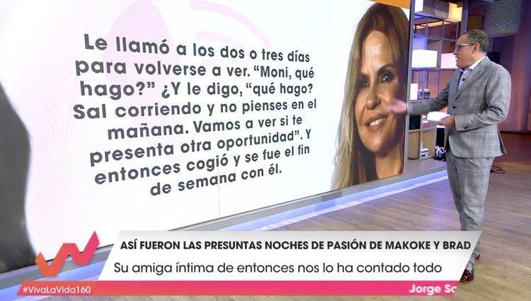 Un fragmento de las declaraciones de Mónica Estarreado/ Foto: telecinco.es