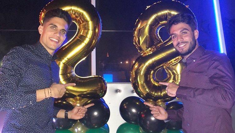 Marc y Èric Bartra en su cumpleaños | Foto: @marcbartra