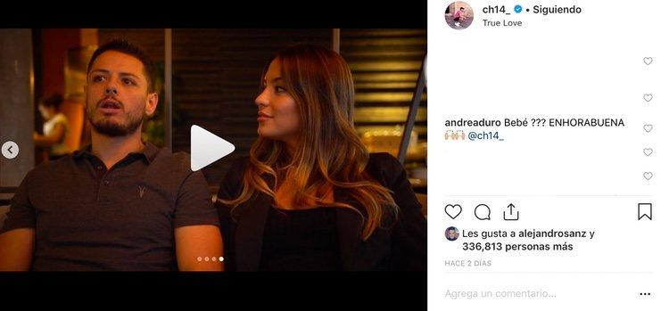 El comentario de Andrea Duro en la publicación de Chicharito / Instagram