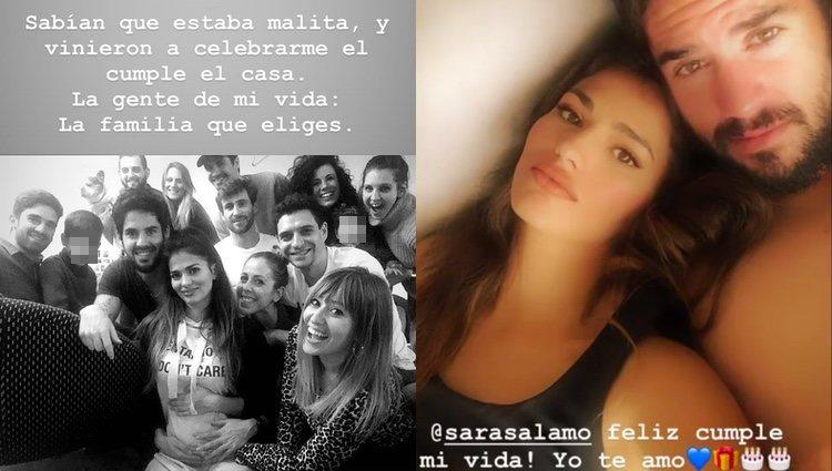 Sara Sálamo celebrando su 27 cumpleaños / Instagram