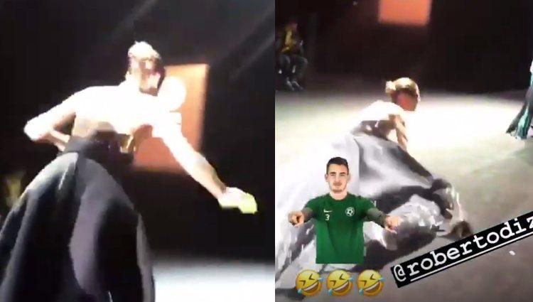 Laura Sánchez cayéndose e la pasarela | Fotos: Instagram