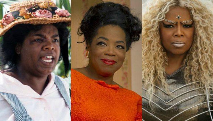 Oprah Winfrey en las películas 'El color púrpura', 'El mayordomo y 'Un pliegue en el tiempo'