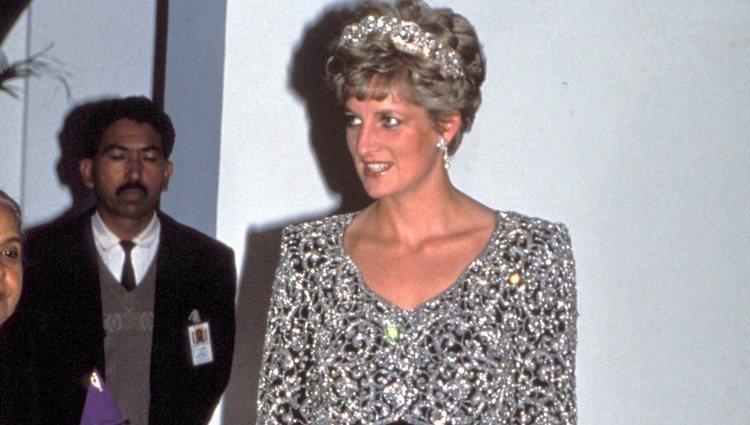 Diana de Gales asistiendo a uno de sus actos
