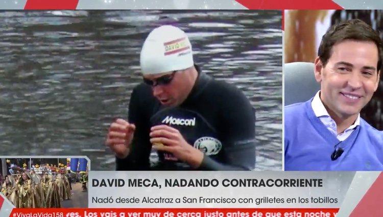 David Meca tras una de sus grandes hazañas | Foto: telecinco.es