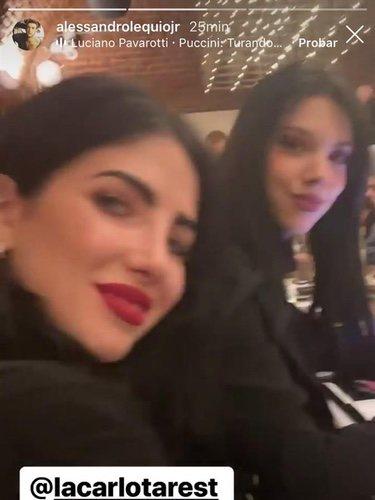 La imagen de Álex Lequio en la que aparece Alejandra Rubio/ Foto: Instagram
