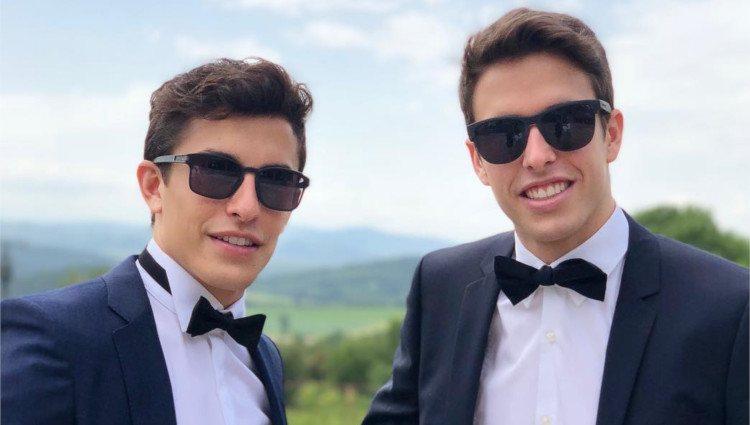 Los hermanos Márquez en una boda/Foto:Instagram