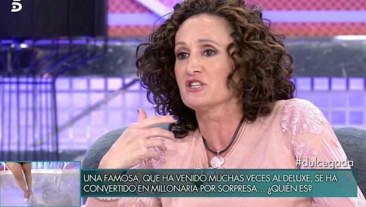 Dulce en el plató de 'Sábado Deluxe' / Foto: Telecinco.es