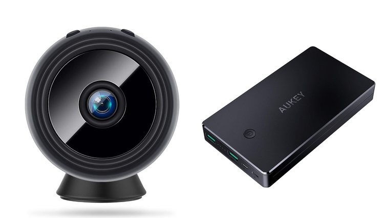 Mini cámara y batería externa
