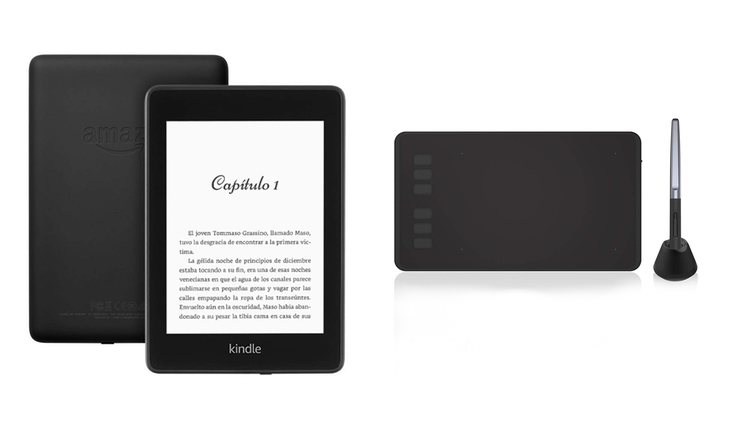Kindle y tableta gráfica