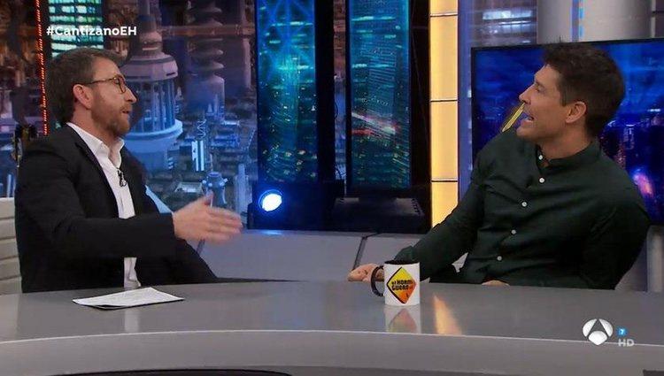 Jaime Cantizano con Pablo Motos en 'El Hormiguero'