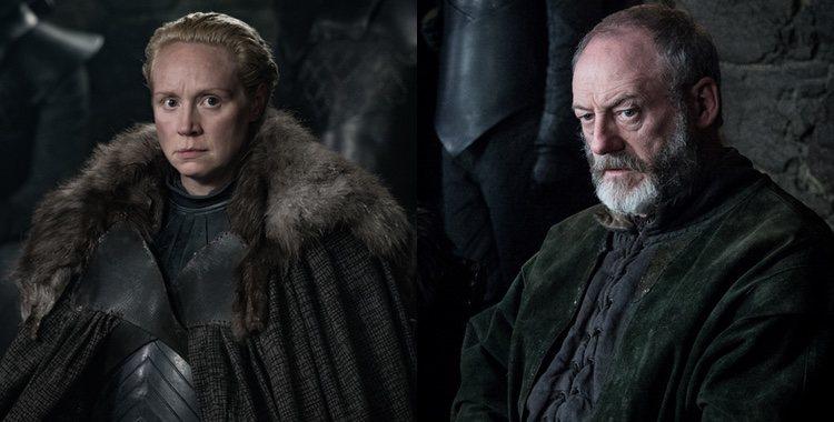 Brienne de Tarth y Ser Davos