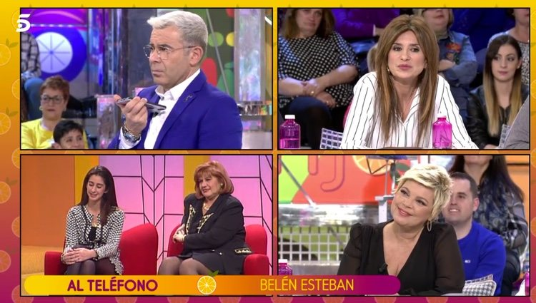 Belén Esteban contando su decisión en 'Sálvame' / Telecinco.es