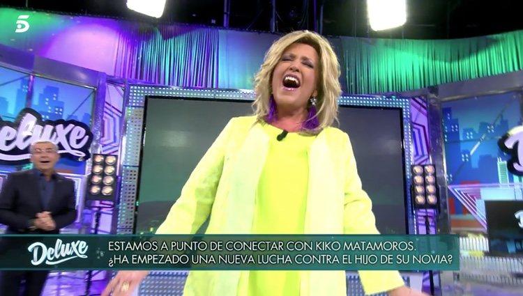 Lydia Lozano cantando en 'Sábado Deluxe' | Foto: telecinco.es