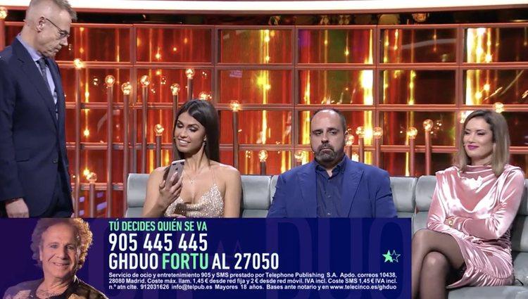 Sofía Suescun mostró los mensajes en directo | Foto: Telecinco.es