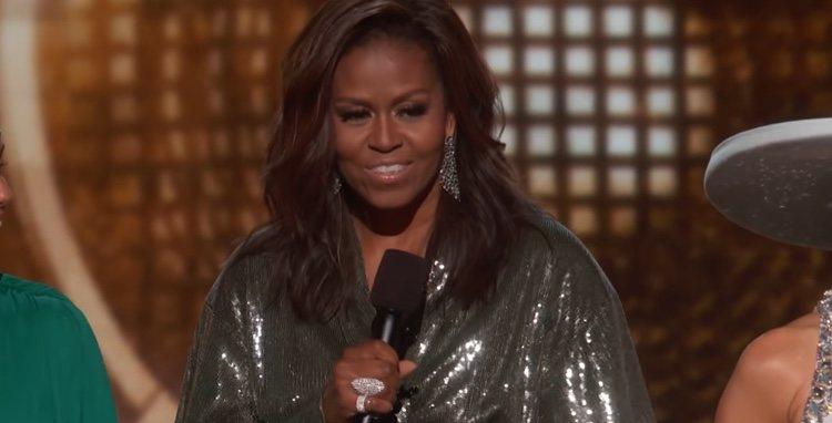 Michelle Obama durante su intervención en la gala de los Grammy 2019
