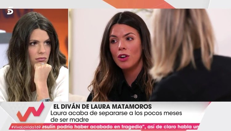 Laura Matamoros en el diván de 'Viva la vida' | Foto: telecinco.es