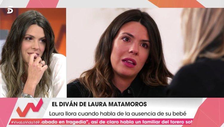 Laura Matamoros en el diván de 'Viva la vida'   Foto: telecinco.es