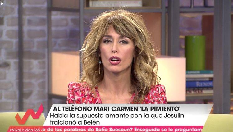 Maria Carmen ha dado su versión en 'Viva la vida'   Foto: Telecinco.es