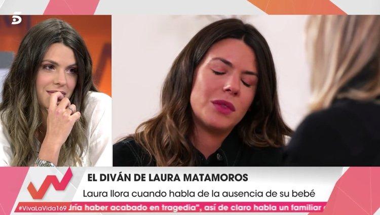 Laura Matamoros emocionada en el diván de 'Viva la vida | Foto: telecinco.es