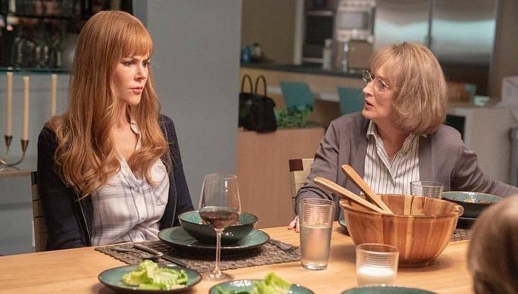Meryl Streep y Nicole Kidman en el rodaje de 'Big Little Lies 2'