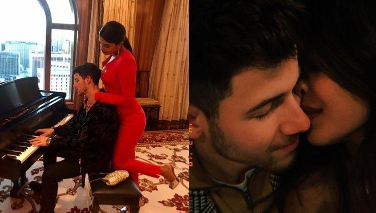 Nick Jonas y Priyanka Chopra presumiendo de amor | Foto: Instagram