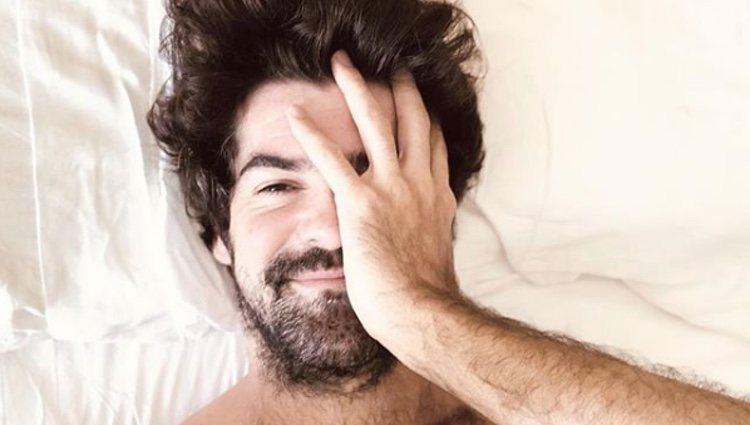 Foto de Miguel Ángel Muñoz sin camiseta en la cama   Foto: Instagram