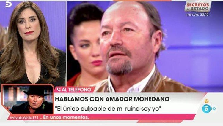 Amador Mohedano habló en directo en 'Viva la vida'