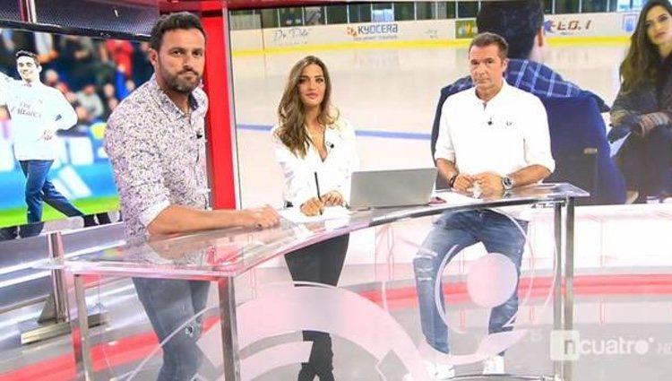 Sara Carbonero en el plató de los deportes Cuatro/ Foto: cuatro.com