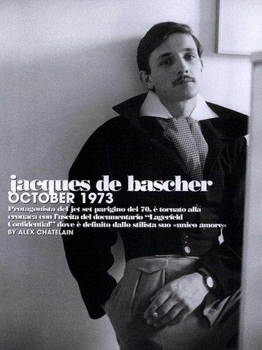 Jacques de Bascher en la portada de una revista de la época