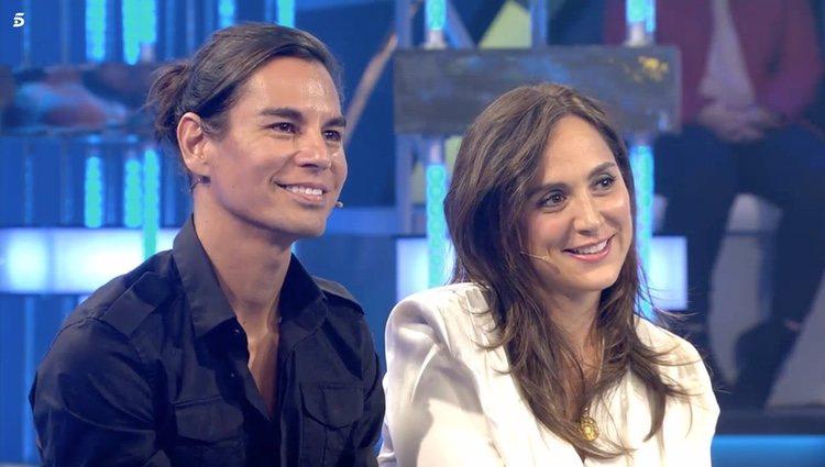 Julio José Iglesias y Tamara Falcó en el plató de 'Volverte a ver'