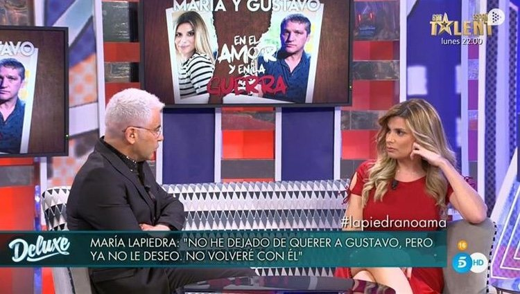Jorge Javier y María Lapiedra en 'Sábado Deluxe'| Foto: Telecinco.es