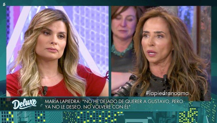 María Patiño y María Lapiedra en 'Sábado Deluxe'| Foto: Telecinco.es