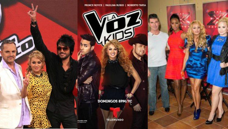 Paulina Rubio como jueza en 'La Voz México', 'La Voz Kids USA' y 'The X Factor'