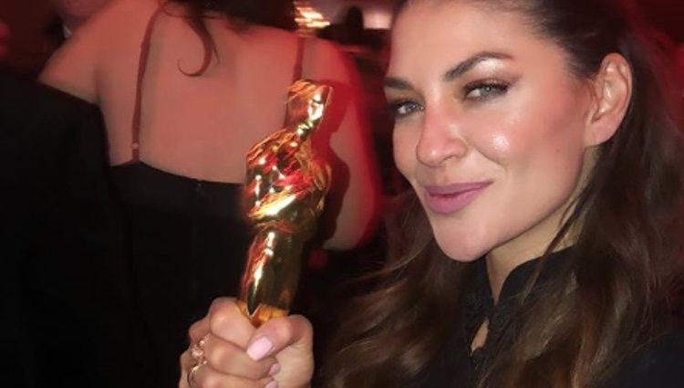Jessica Szohr en la fiesta de los Oscar / Foto: Instagram