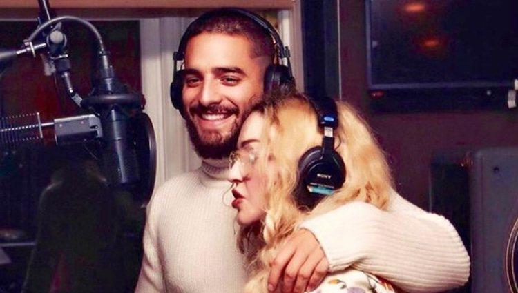 Maluma y Madonna en el estudio